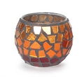 GOLD  MOSAIC CANDLE HOLDER  (12PC/PKG)