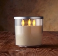 3 Wick  Ivory Luminara Jar candle (1pc)