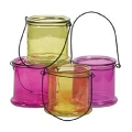 4.75 INCH ROUND BRIGHTON COLORS CANDLE GLASS (16PCS)