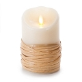 5-inch Luminara Reed-Wrapped Pillar