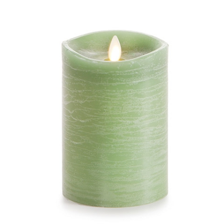 Green Luminara Pillar Candle