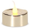 Set of 3 LED Metallic Gold Tealight