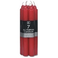7 Inch Red Formal Taper Candle (7pcs)