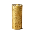 8inch Flameless Gold Mercury Glass Cylinder