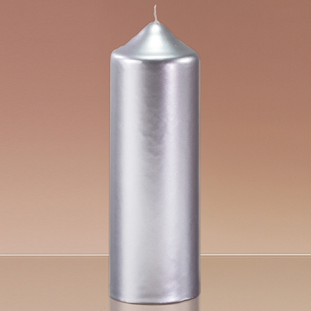 2 8 inch x 8 inch metallic candles bulk metallic for Shimmer pillar candle