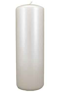 home pillar candles 3 x 8 pearlescent white pillar