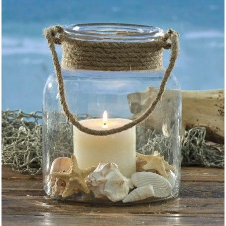 Clear Glass With Rope Handle