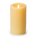 7inch Yellow Beeswax Luminara Pillar Candle