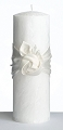 Cream Rose White Palm Wax Pillar Candle