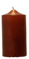 Chocolate Brown Unscented Pillar Candles (12pcs)