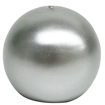 3inch Silver Ball Candle Bulk Ball Candle Cheap Silver Candle