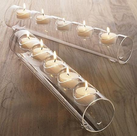 wooden tube light holder
