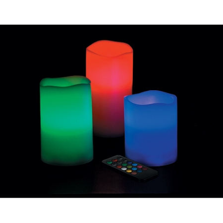 Color Changing Led Pillar Candle 4pcs
