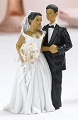 African-American Bride & Groom Couple Figurine