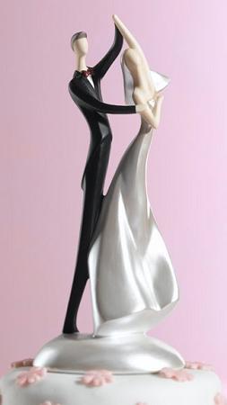 Caucasian Dancing Couple Figurine