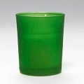 Green Frosted Cylinder Votive Candle ( 72pcs)