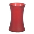 8 Inch Red Frosted Cylinder Glass vase (12pcs)