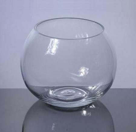 11 inch clear glass bowl 4pcs for Fish bowl glass