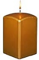3inch Metallic Gold Pillar Candle (12pcs)