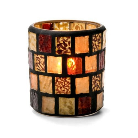 Quick View  sc 1 st  Millennium Candles & Amber Mosaic Candle Holder