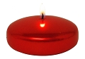 Red Metallic Floating Candle (24pcs)
