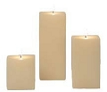 Ivory Square Pillar Candles (12pcs)