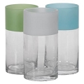 5 X10 INCH PARTIAL FROSTED CYLINDER VASE  (6pcs)