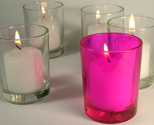 Tip: A half teaspoon of water in the votive candle holder will make it easy to remove any remaining wax once the votive candle has burned out and cooled {Votive candle sold separately} Size: 2 1/2