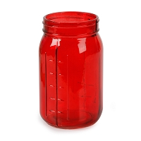 Red Mason Jar (24pcs)