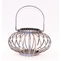 Tarnished Silver Sphere Candleholder   (1pc)