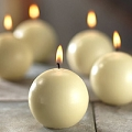 2.8 inch Ivory Ball Candles (12pcs)