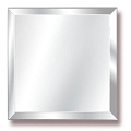 14Inch Beveled Square Mirror (6pcs)
