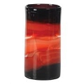 CYLINDER COLOR STREAKED ART GLASS VASE (1pc)