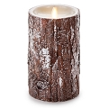 7-inch Luminara silver-washed bark Pillar