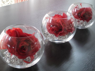 5 5 Inch Bubble Ball Glass Bowl 12pcs