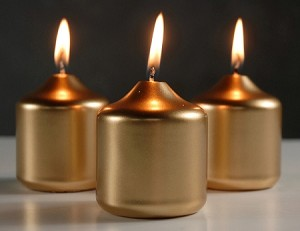 2 8 inch x 3 inch metallic candles 12pcs for Shimmer pillar candle