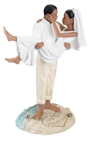 African-American Beach Couple Figurine