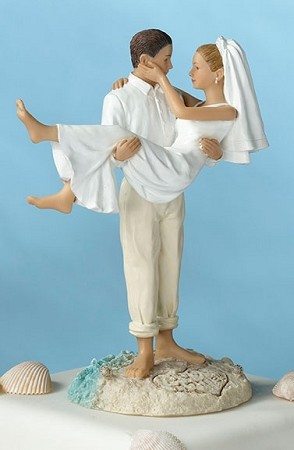 Caucasian Beach Couple Figurine