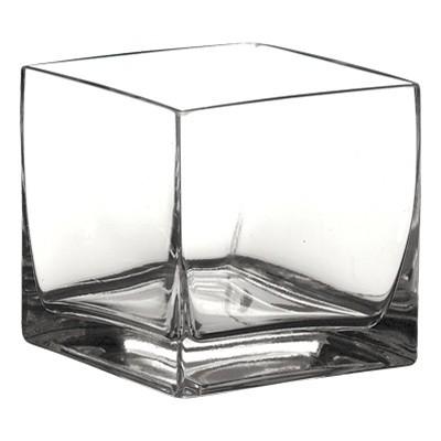 4 X 4 X 4 Cube Glass Vase 18pcs