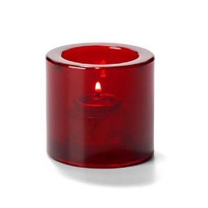 round ruby red candle holder. Black Bedroom Furniture Sets. Home Design Ideas