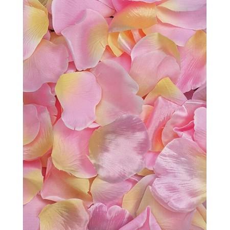 Pinkyellow silk flower petals 100pcsbag mightylinksfo