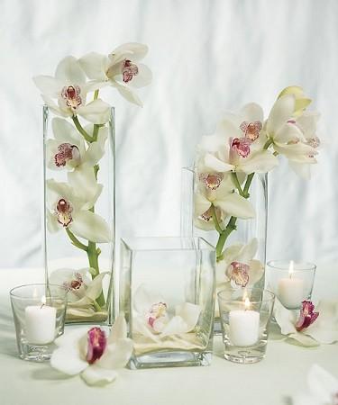 16inch Block Glass Vase 6pcs
