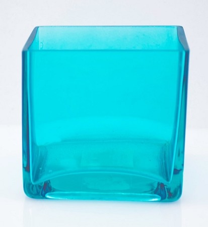 "4"" X 4"" Ocean Blue Glass Squares (12pcs)"