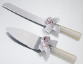 Blush Ivory Bouquet Knife and Server Set