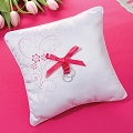 Pink Floral Ring Pillow